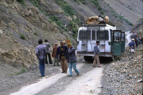 Ladak- Tappa e successivo pernottamento prima della strada dell orrore
