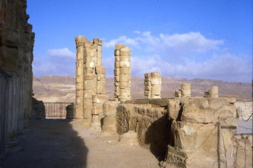Le rovine di Masada