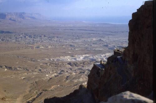Vista del mar Morto dala Rupe di Masada