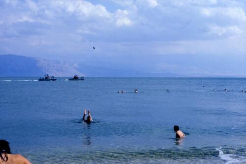 Motovedette in perlustrazione sul Mar morto