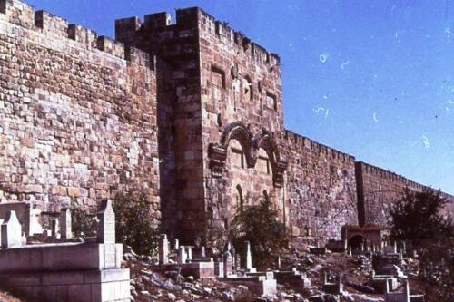 Israele .Cimitero ebraico sotto le mura di Gerusalemme