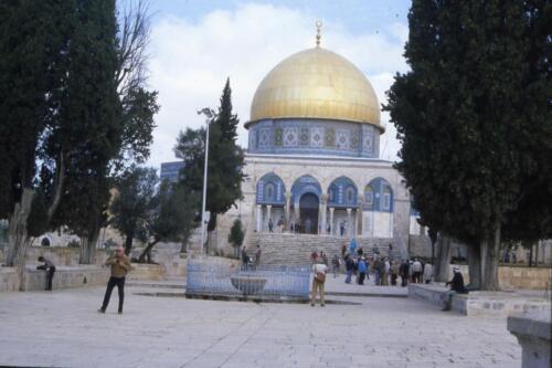La cupola ricoperta d-oro della Moschea di Omar-Gerusalemme